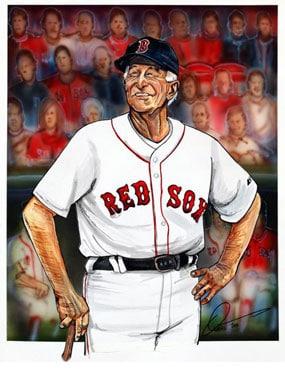 Dave Olsen, Johnny Pesky of the Boston Red Sox