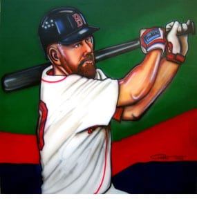 Dave Olsen, Kevin Youkilis of the Boston Red Sox