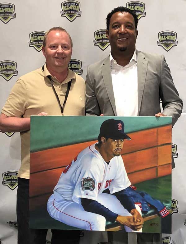 Kevin McNeil with Pedro Martinez
