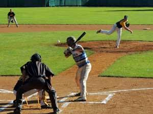 Buffalo Hitmen Batting at Doubleday Field