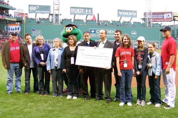 Jacoby Ellsbury Check Presentation at Fenway Park