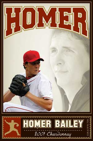 Homer Bailey, Homer Chardonnay wine