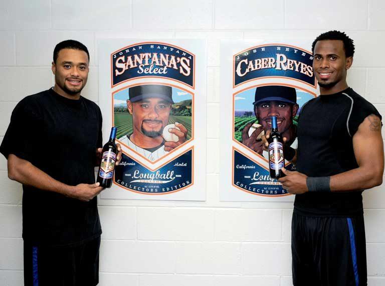 Johan Santana and Jose Reyes Charity Wines