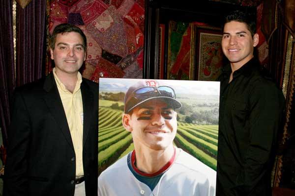 Jonathan Banchick with Jacoby Ellsbury