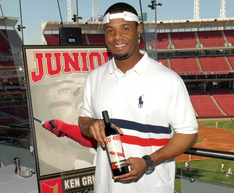 Ken Griffey, Jr. with Charity Wines