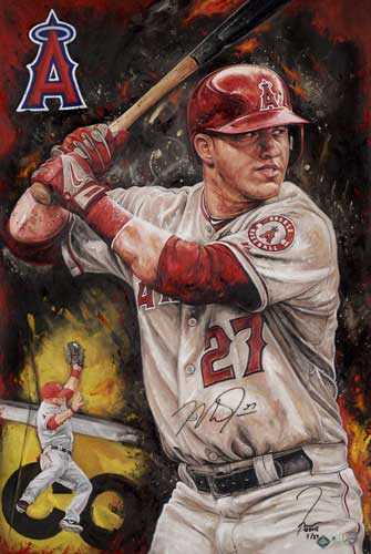 Mike Trout, by Justyn Farano