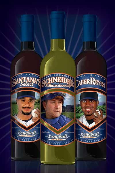 Johan Santana, Brian Schneider and Jose Reyes Charity Wines