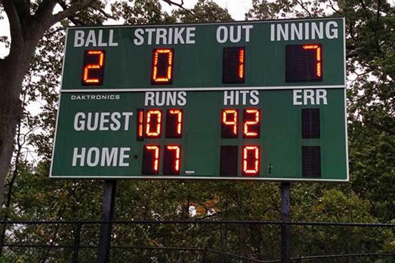 100 Innings of Baseball, 2007 – Final Score