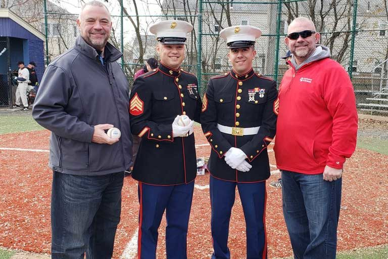 U.S. Marines and the Averill Brothers