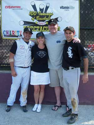 Shonda & Curt Schilling with event organizers, Brett Rudy and Mike Lembo