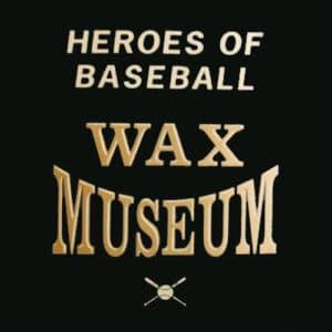 Heroes of Baseball Wax Museum logo