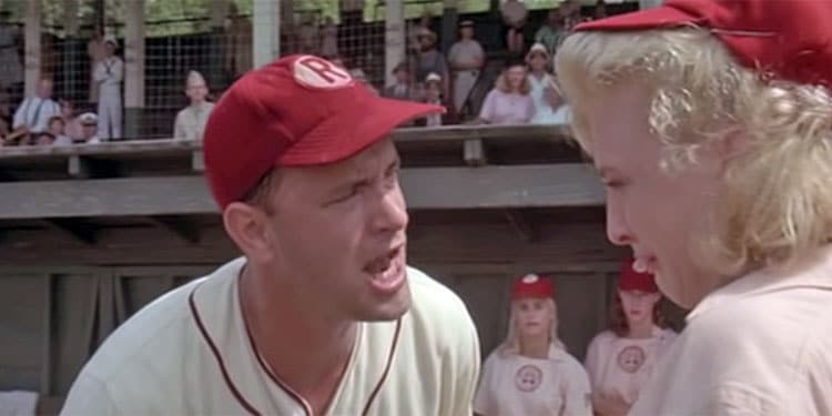 "Tom Hanks: ""There's No Crying In Baseball""{"