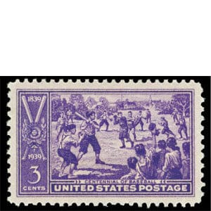 Centennial of Baseball, U.S. Postage Stamp – 3¢