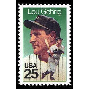 Lou Gehrig, 1989 U.S. Postage Stamp – 25¢