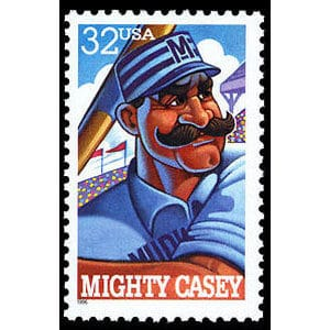 Mighty Casey, Folk Heroes, U.S. Postage Stamp – 32¢