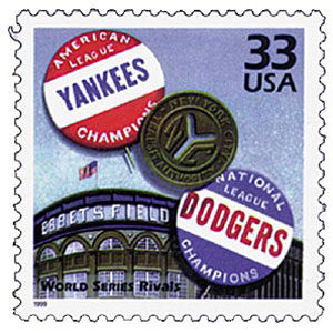 World Series Rivals, Celebrate the Century U.S. Postage Stamp – 33¢