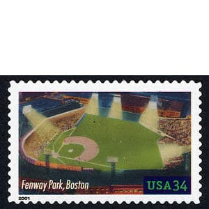 Fenway Park, Legendary Playing Fields, U.S. Postage Stamp – 34¢