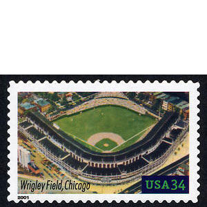 Wrigley Field, Legendary Playing Fields, U.S. Postage Stamp – 34¢