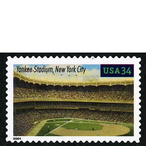 Yankee Stadium, Legendary Playing Fields, U.S. Postage Stamp – 34¢