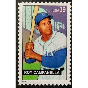 Roy Campanella, Baseball Sluggers, U.S. Postage Stamp – 39¢
