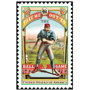 Take Me Out To The Ballgame, U.S. Postage Stamp – 42¢