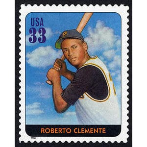 Roberto Clemente, Legends of Baseball U.S. Postage Stamp – 33¢