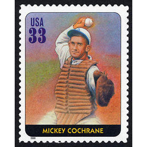 Mickey Cochrane, Legends of Baseball U.S. Postage Stamp – 33¢