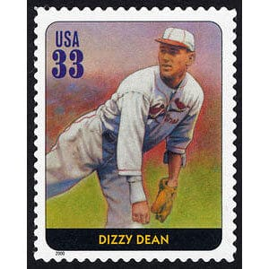 Dizzy Dean, Legends of Baseball U.S. Postage Stamp – 33¢