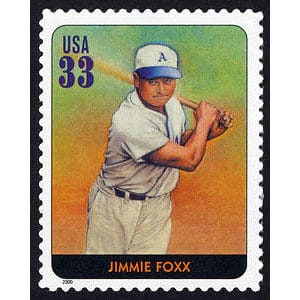 Jimmie Foxx, Legends of Baseball U.S. Postage Stamp – 33¢