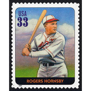 Rogers Hornsby, Legends of Baseball U.S. Postage Stamp – 33¢