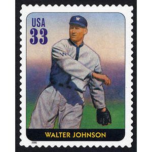 Walter Johnson, Legends of Baseball U.S. Postage Stamp – 33¢