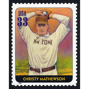 Christy Mathewson, Legends of Baseball U.S. Postage Stamp – 33¢