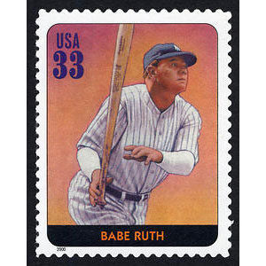 Babe Ruth, Legends of Baseball U.S. Postage Stamp – 33¢