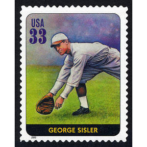 George Sisler, Legends of Baseball U.S. Postage Stamp – 33¢
