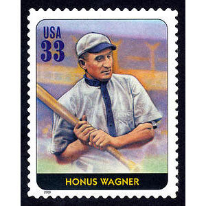 Honus Wagner, Legends of Baseball U.S. Postage Stamp – 33¢