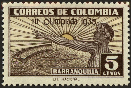 1935 Colombia – III Olimpiada, Olympic Greeting