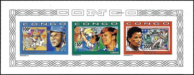 1991 Congo – Bo Jackson, Nick Faldo and Rickey Henderson