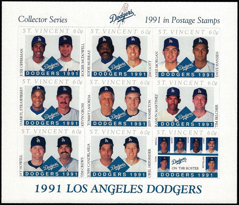 1991 St. Vincent – Los Angeles Dodgers, Sheet 1