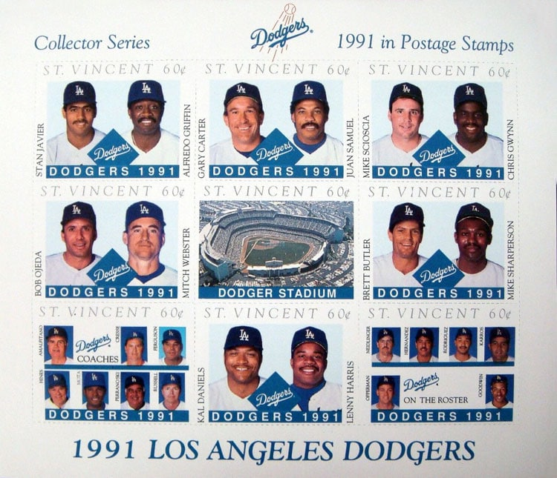 1991 St. Vincent – Los Angeles Dodgers, Sheet 2