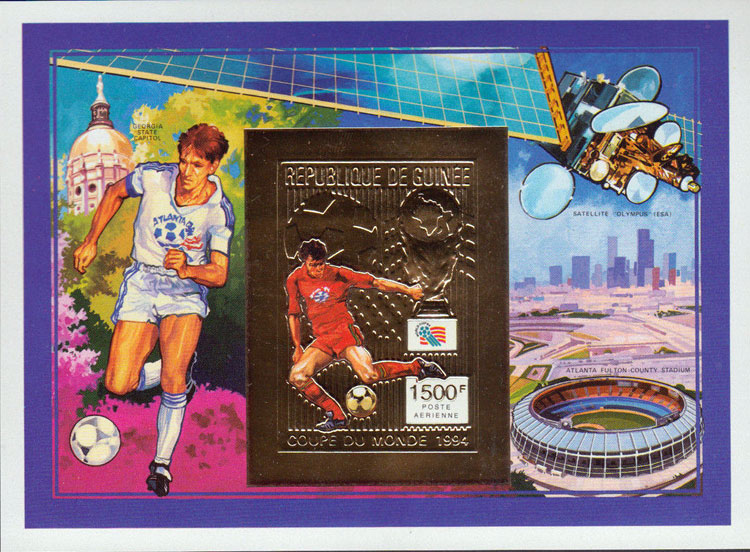 1992 Guinea – Atlanta Fulton County Stadium Souvenir Sheet