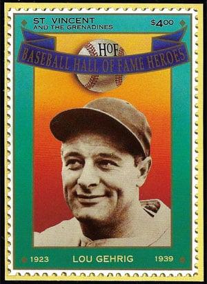 1992 St. Vincents – Hall of Fame Heroes, Lou Gehrig