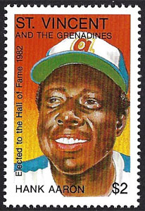 1992 St. Vincents – Elected to the Hall of Fame, Hank Aaron