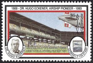 1993 Antigua & Barbuda – Hindenburg Zeppelin Stops Baseball Game