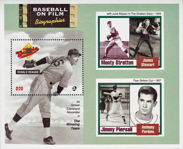 1993 Gambia – Baseball on Film Biographies: Monty Stratton and Jimmy Piersall