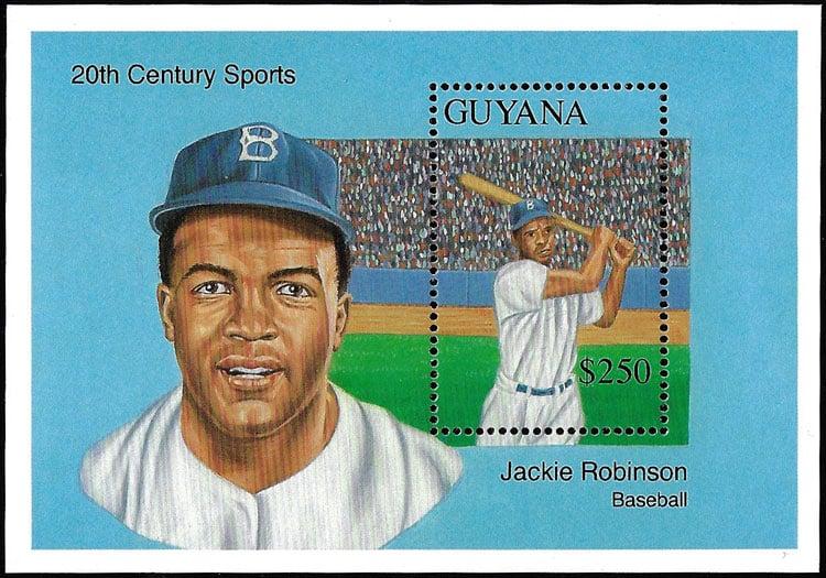 1993 Guyana – 20th Century Sports with Jackie Robinson