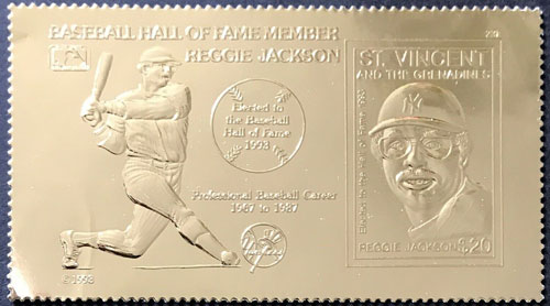 1993 St. Vincent – Reggie Jackson Elected to the Hall of Fame, 23k Gold