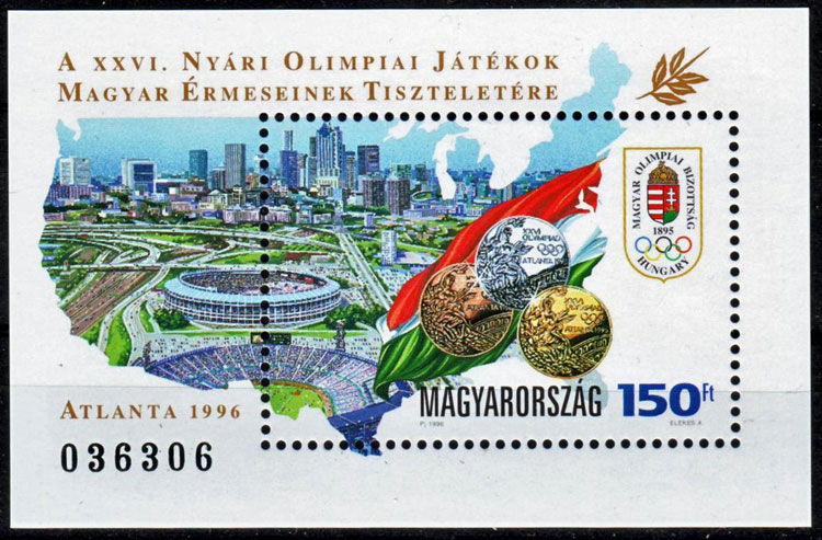 1996 Hungary – Olympics in Atlanta with Fulton County Stadium
