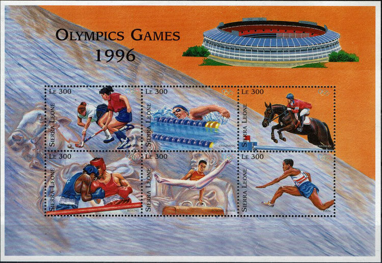 1996 Sierra Leone – Olympics in Atlanta with Fulton County Stadium