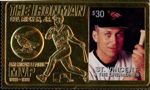 1996 St. Vincent – Cal Ripken, The Ironman, 23k Gold