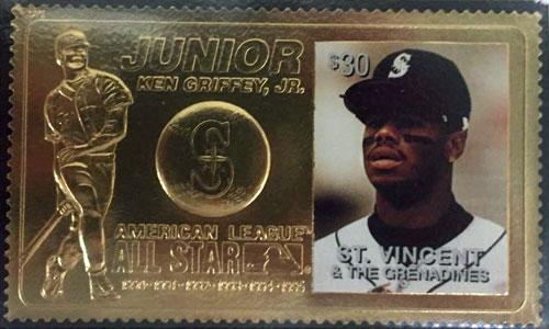 1996 St. Vincent – Ken Griffey Jr., Junior, 23k Gold